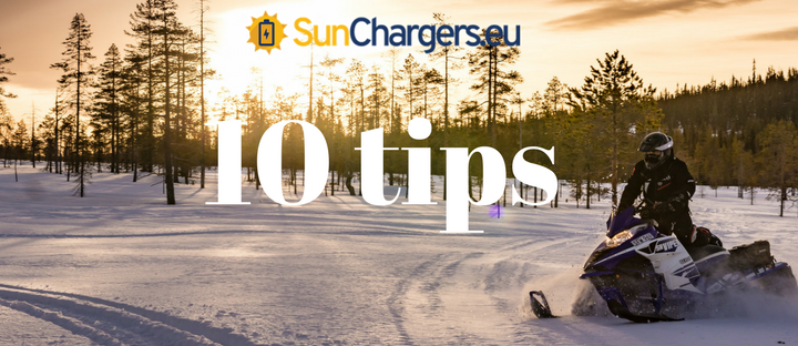 10 tips voor je Solar Powerbank op wintersport!