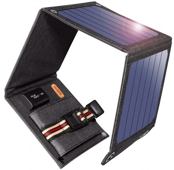 Suaoki solar panel oplader usb