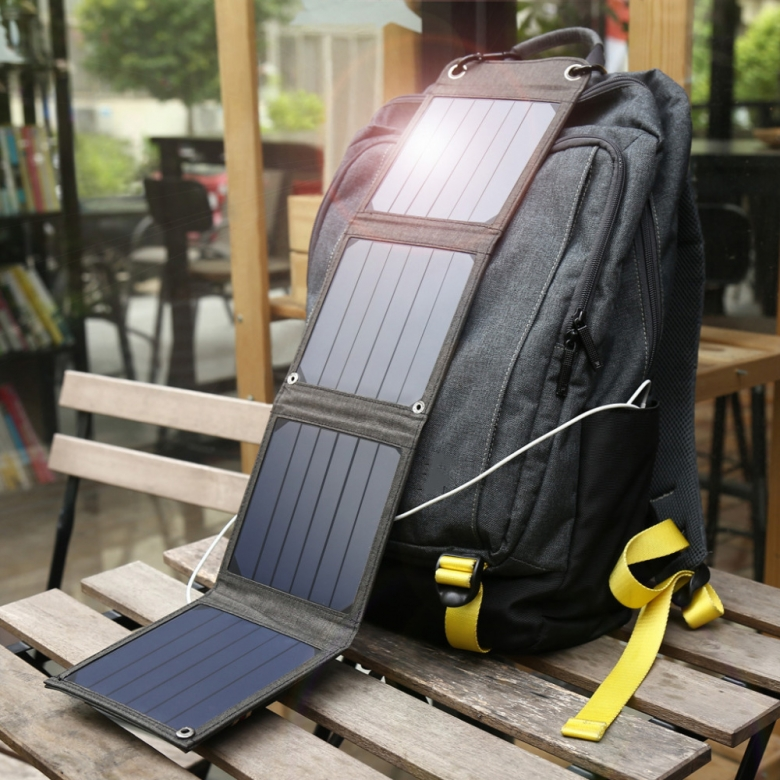 solar panel rugzak